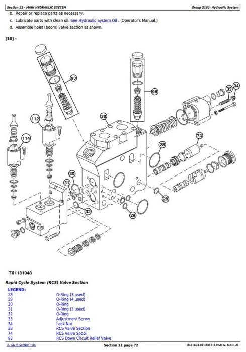 Fourth Additional product image for - John Deere 903K and 953K Tracked Feller Buncher Service Repair Technical Manual (TM11624)