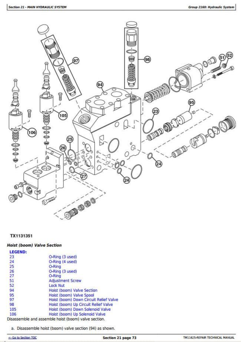 Fourth Additional product image for - John Deere 909K and 959K Tracked Feller Buncher Service Repair Technical Manual (TM11625)