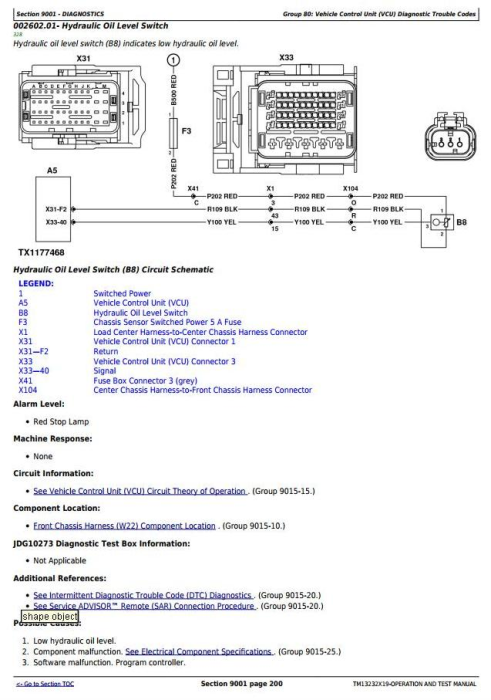 Second Additional product image for - John Deere 903M, 953M (SN.271505-)Track Feller Buncher Diagnostic & Test Service Manual (TM13232X19)