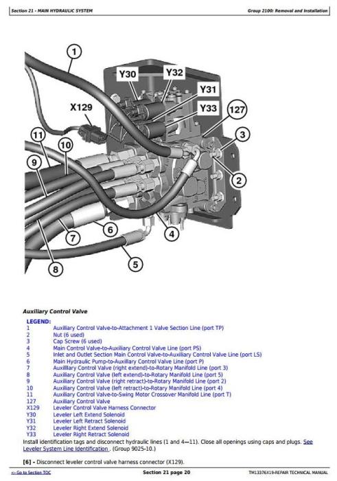 Third Additional product image for - John Deere 903M, 909M, 953M, 959M (SN.271505-)Feller Buncher Service Repair Technical Manual (TM13376X19)