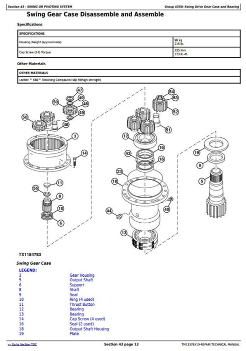 Fourth Additional product image for - John Deere 903M, 909M, 953M, 959M (SN.271505-)Feller Buncher Service Repair Technical Manual (TM13376X19)