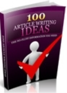 100 Article Writing Ideas | eBooks | Business and Money