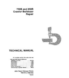 John Deere 750b 850b Crawler Dozer Service Technical Manual Tm1476 | eBooks | Automotive