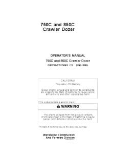 John Deere 750c 850c Crawler Dozer Operator Manual Omt165719   eBooks   Automotive