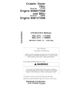 john deere 750j 850j crawler dozer operator manual omt202117