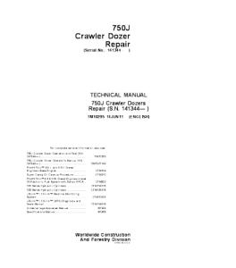 john deere 750j crawler dozer service technical manual tm10295