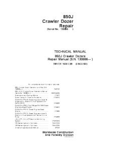John Deere 850j Crawler Dozer Service Technical Manual Tm1731 | eBooks | Automotive