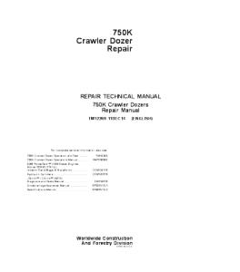 john deere 750k crawler dozer service technical manual tm12269