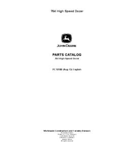 John Deere 764 High Speed Dozer Parts Catalog Manual Pc10108   eBooks   Automotive