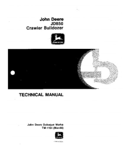 John Deere 850 Crawler Dozer Service Technical Manual Tm1164 | eBooks | Automotive