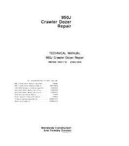 john deere 950j crawler dozer service technical manual tm2364