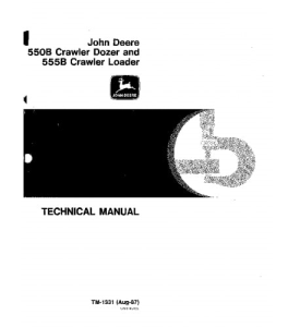 John Deere 550b 555b Crawler Loader Bulldozer Service Technical Manual Tm1331 | eBooks | Automotive