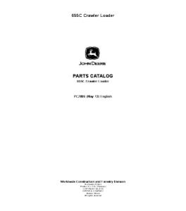 John Deere 655c Crawler Loader Parts Manual Pc2886   eBooks   Automotive