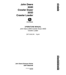 john deere 350d 355d crawler dozer loader operator manual omt105029