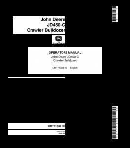 john deere 450c crawler dozer operator manual omt71338