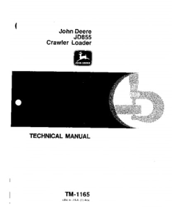 john deere 855 crawler loader service technical manual tm1165