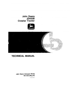 john deere 450b crawler tractor, 450b crawler loader service technical manual tm1033