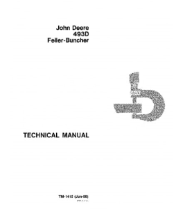 john deere 493d feller buncher technical service manual tm1415