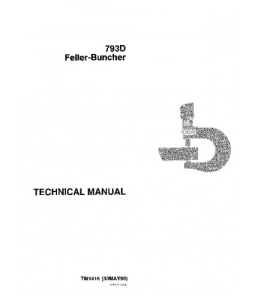 john deere 793d feller buncher service technical manual tm1416