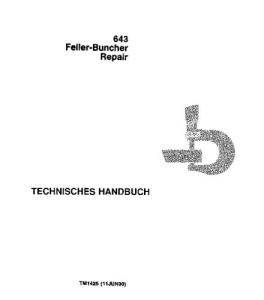 john deere 643 feller buncher service technical manual tm1425