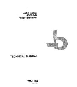john deere 693b feller buncher service technical manual tm1170