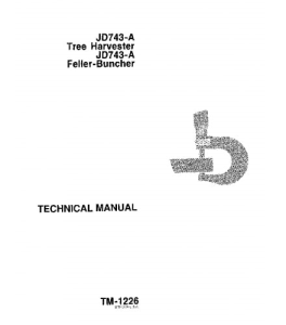 john deere 743a feller buncher harvester service technical manual tm1226