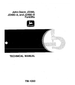 john deere 380 480a 480b forklift service technical manual tm1060
