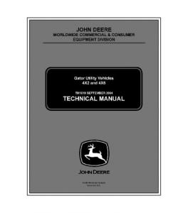 john deere 4x2 4x6 gator utility vehicle service technical manual tm1518