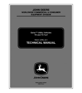john deere tx + tx turf gator utility vehicle technical service manual tm2241