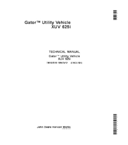 john deere 625i xuv gator utility vehicle service technical manual tm107019