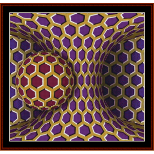 Optical Illusion #1 cross stitch pattern by Cross Stitch Collectibles | Crafting | Cross-Stitch | Other