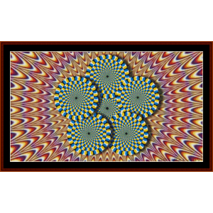 Optical Illusion #2 cross stitch pattern by Cross Stitch Collectibles | Crafting | Cross-Stitch | Other