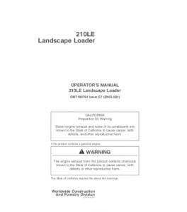 John Deere 210le Landscape Loader Operator Manual Omt186794 | eBooks | Automotive
