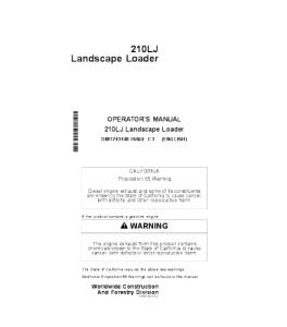 John Deere 210lj Landscape Loader Operator Manual Omt243448 | eBooks | Automotive