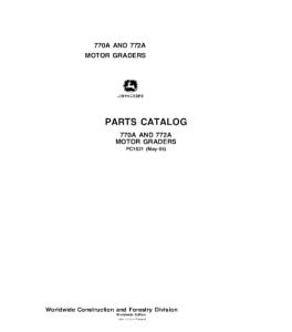 John Deere 770a 772a Motor Grader Parts Catalog Manual Pc1621 | eBooks | Automotive