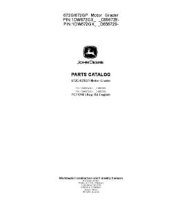 John Deere 672g 672gp Motor Grader Parts Catalog Manual Pc11246 | eBooks | Automotive
