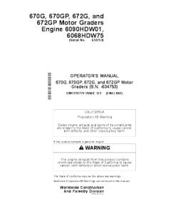 John Deere 670g 670gp 672g 672gp Motor Grader Operator Manual Omt237774 | eBooks | Automotive