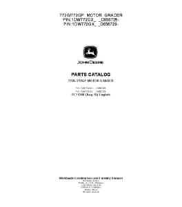 John Deere 772g 772gp Motor Grader Parts Catalog Manual Pc11248 | eBooks | Automotive