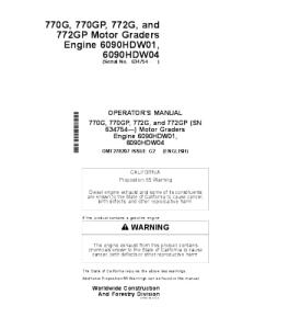 John Deere 770g 770gp 772g 772gp Motor Grader Operator Manual Omt278207 | eBooks | Automotive