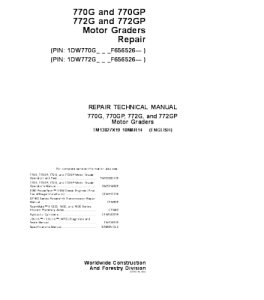 John Deere 770g 770gp 772g 772gp Motor Grader Service Technical Manual Tm13027x19 | eBooks | Automotive
