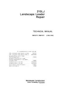 John Deere 210lj Landscape Loader Service Technical Manual Tm10731 | eBooks | Automotive