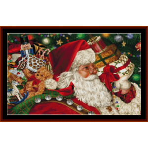 here comes santa - holiday cross stitch pattern by cross stitch collectibles