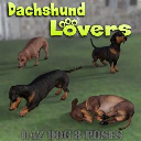 DACHSHUND Lovers Poses for Daz Studio and Dachshund Breed (Daz Dog 8) | Other Files | Graphics
