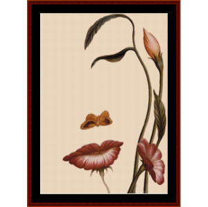 Woman or Flowers? - Optical Illusion cross stitch pattern by Cross Stitch Collectibles | Crafting | Cross-Stitch | Other