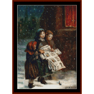 little newsies - a.e. mulready cross stitch pattern by cross stitch collectibles
