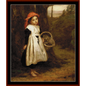 little violet seller - a.e. mulready cross stitch pattern by cross stitch collectibles
