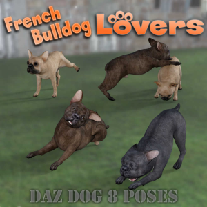 french bulldog lovers poses for daz studio and daz dog 8 breed