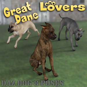 great dane lovers poses for daz studio and daz dog 8 breed