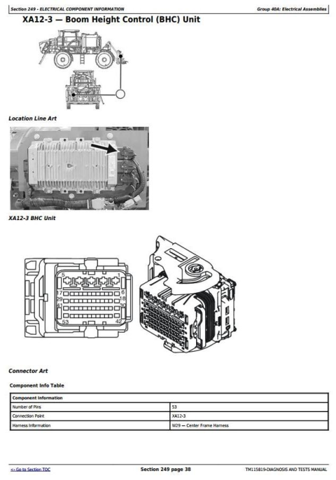 Third Additional product image for - John Deere R4030, R4038, R4045 Self-Propelled Sprayer Diagnostic and Tests Service Manual (TM115819)