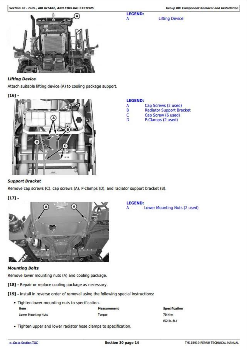 Second Additional product image for - John Deere R4030 and R4038 Self-Propelled Sprayer Service Repair Technical Manual (TM115919)